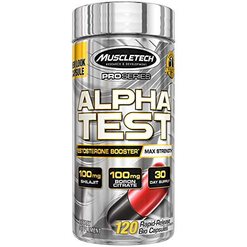 MuscleTech AlphaTest ATP & Testosterone Booster for Men, Boost Free Testosterone and Enhance...