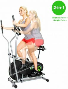 exercise bike cross trainer combo